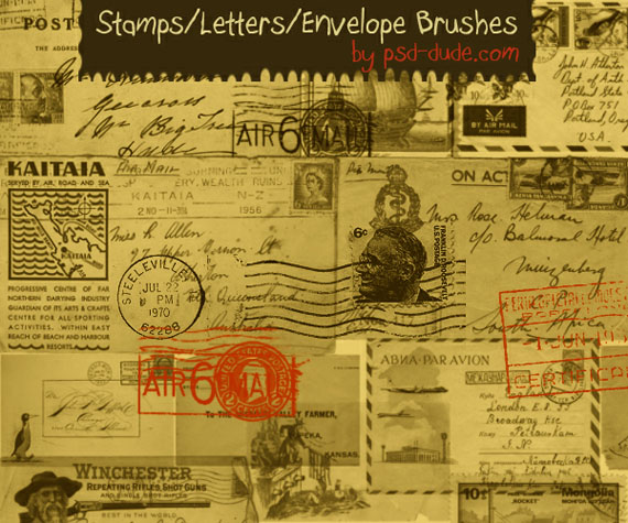 Stamps - Letters - Envelope brushes