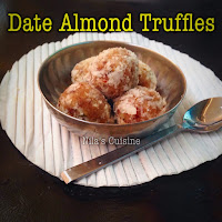 Dates Almond Truffles / Dates Almond Laddoo
