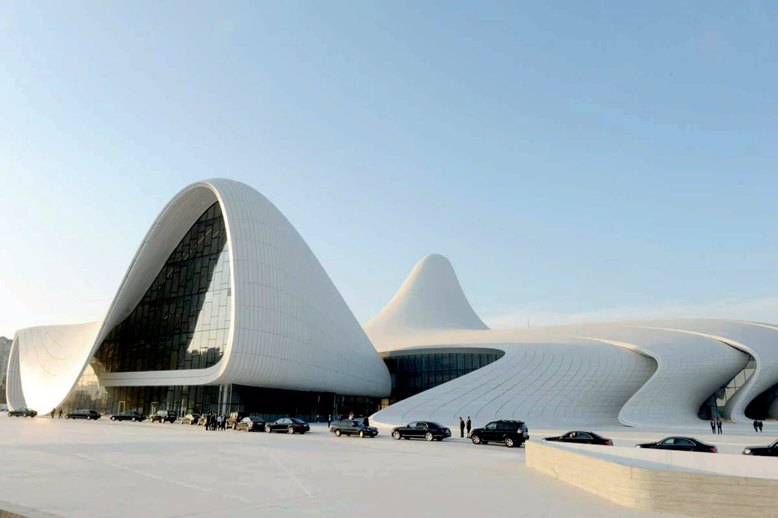 Famous Contemporary Architects Heydar Aliyev Cultural Center By Zaha Hadid A As