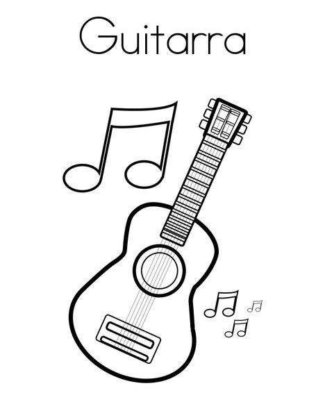 blog de geografia guitarra desenho para imprimir e colorir