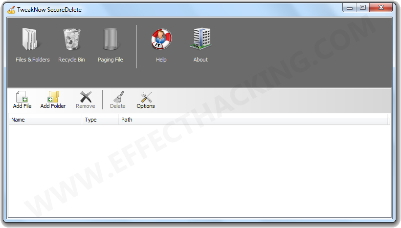 TweakNow SecureDelete Screenshot