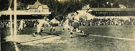 Chile y Uruguay en partido amistoso, 10 de diciembre de 1927