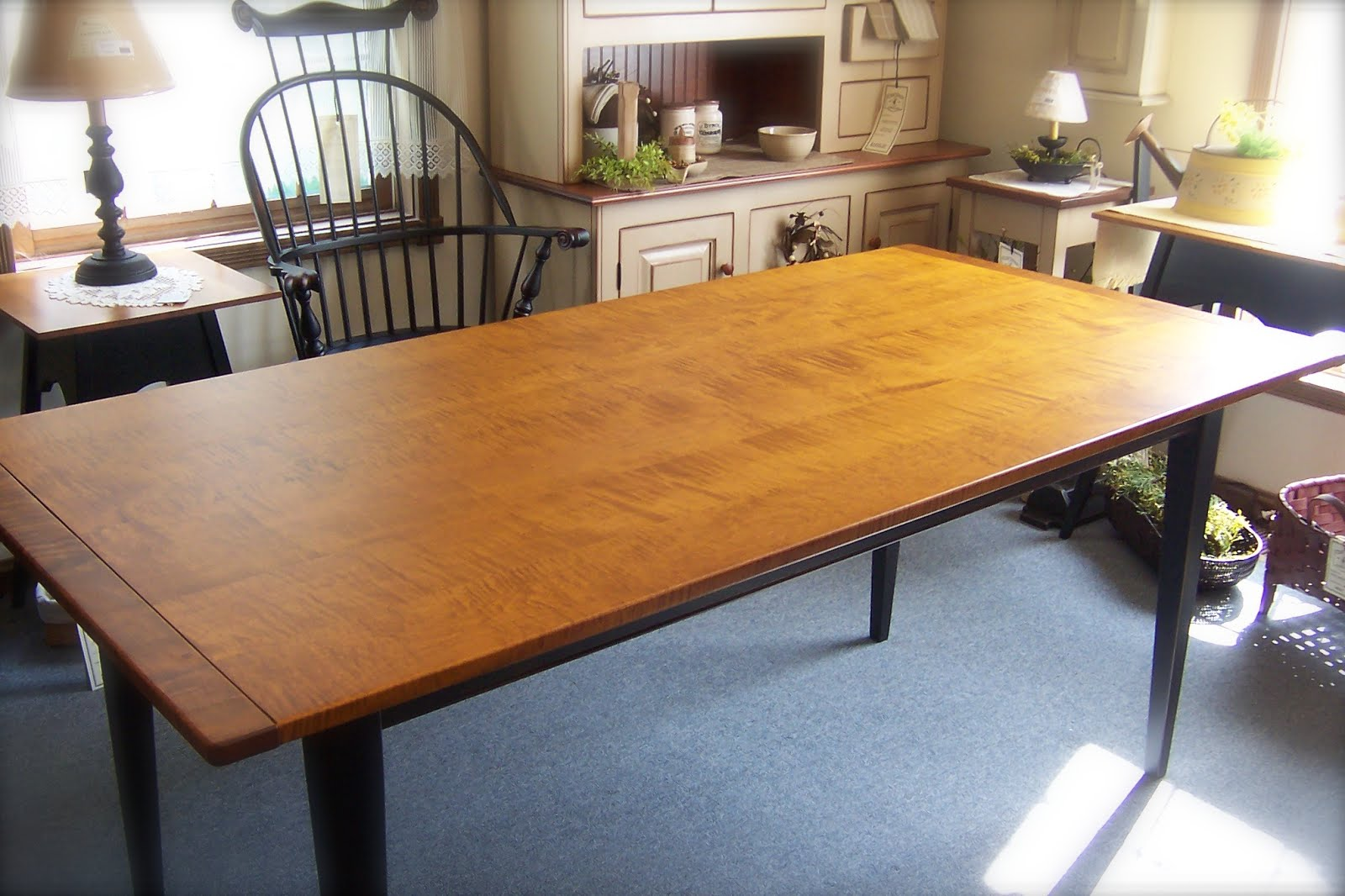 tiger maple table