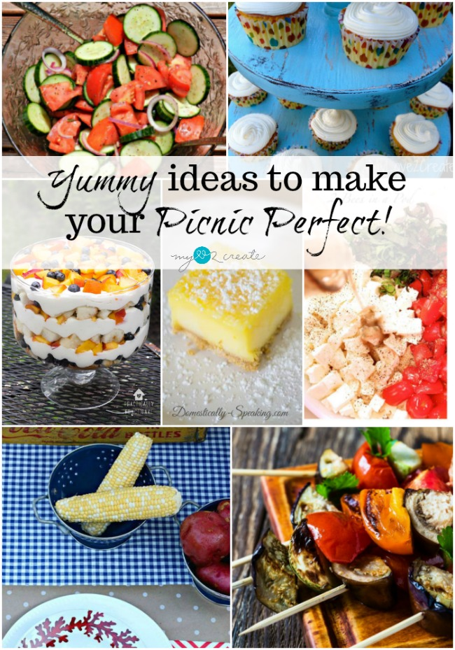 Yummy ideas to make your picnic perfect at MyLove2Create with the DIY Housewives!