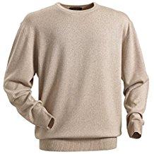 Royal Spencer Herren Rundhals-Pullover aus Kaschmir-Seide, Kaschmirpullover in Beige, kuscheliger Winterpullover, angenehm zu tragen (Gr: M - XL)