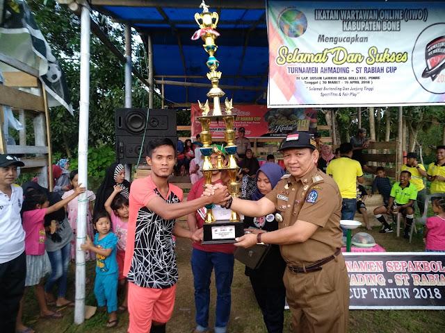 Camat Ponre dan Masyarakat Inginkan Turnamen Sepak Bola Ahmading-ST Rabiah Cup Berlanjut