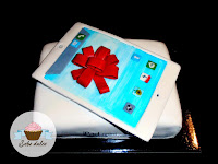 Tarta fondant iPAd mini Vista superior