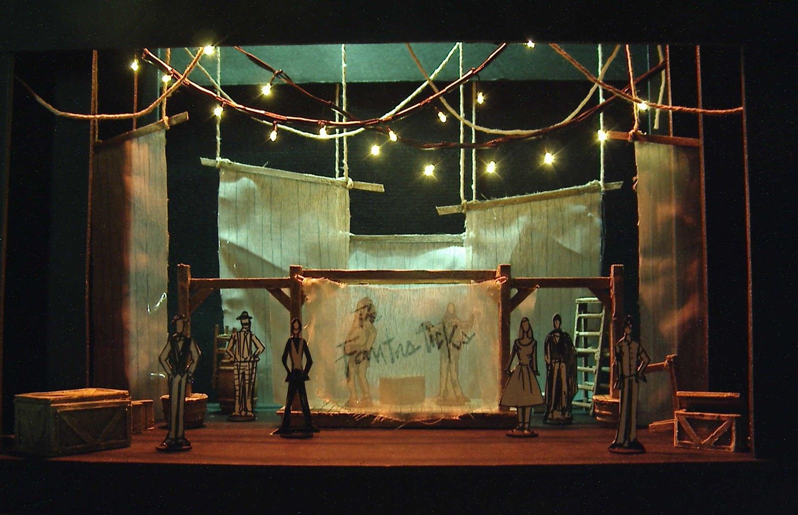 Lance Cardinal Creations The Fantasticks Set Design Model