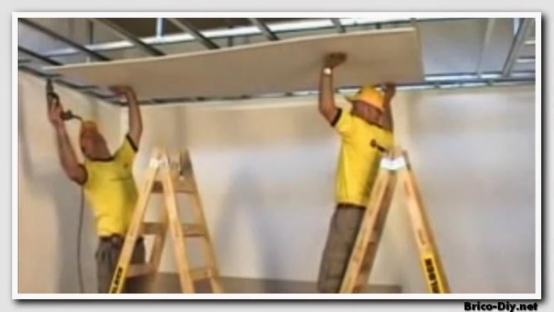 Como instalar cielo raso con placa acstica  Web del Bricolaje Diseo Diy