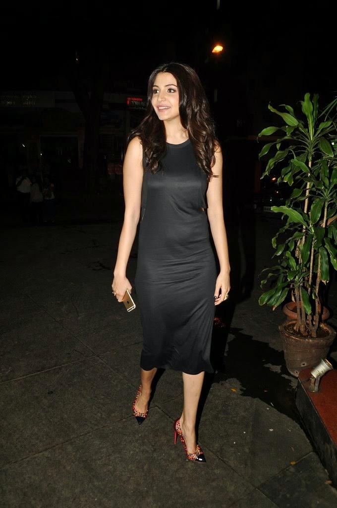Anushka Sharma Long Hair Photo shoot In Black Dress