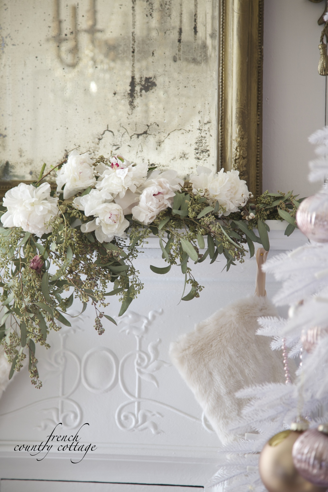 Home for the Holidays- Christmas in White & Blush office ...