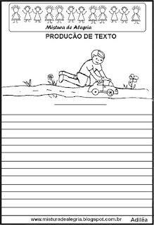 Produção de texto o menino com carrinho