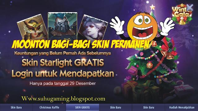 Cara mendapatkan Skin Starlight Gratis Event Winter Gala Mobile Legends