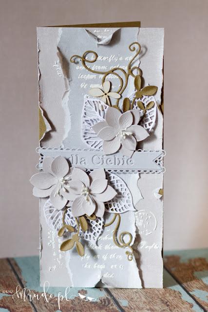 ręcznie robiona kartka