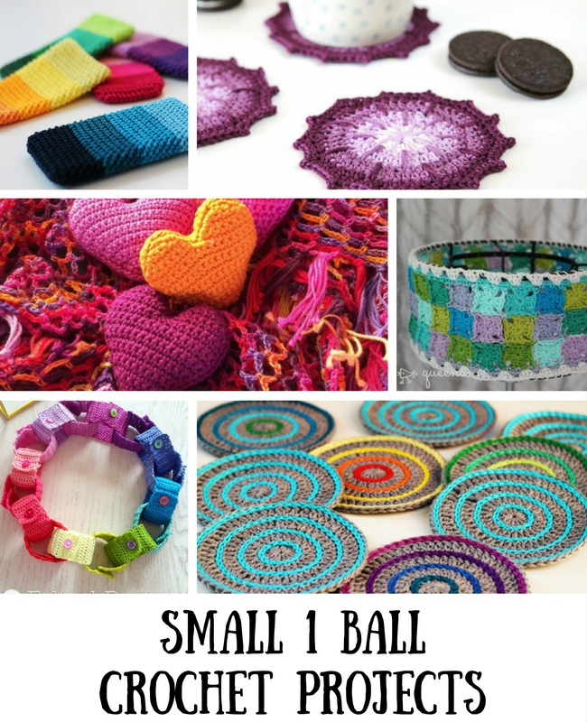 Small crochet projects, 1 ball crochet projects | Happy in Red