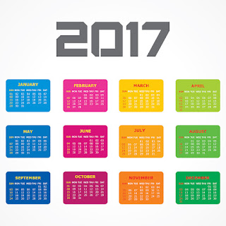 2017カレンダー無料テンプレート139