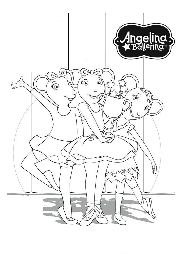 Desenhos Da Angelina Ballerina Ou Bailarina Para Colorir Pintar