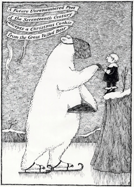 edward gorey christmas card future unremembered poet great veiled bear