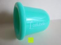 seitlich: Cellubelle - Die Anti-Cellulite Saugglocke zur Vorbeugung und Bekämpfung von Cellulite und Orangenhaut (Aqua/Türkis)