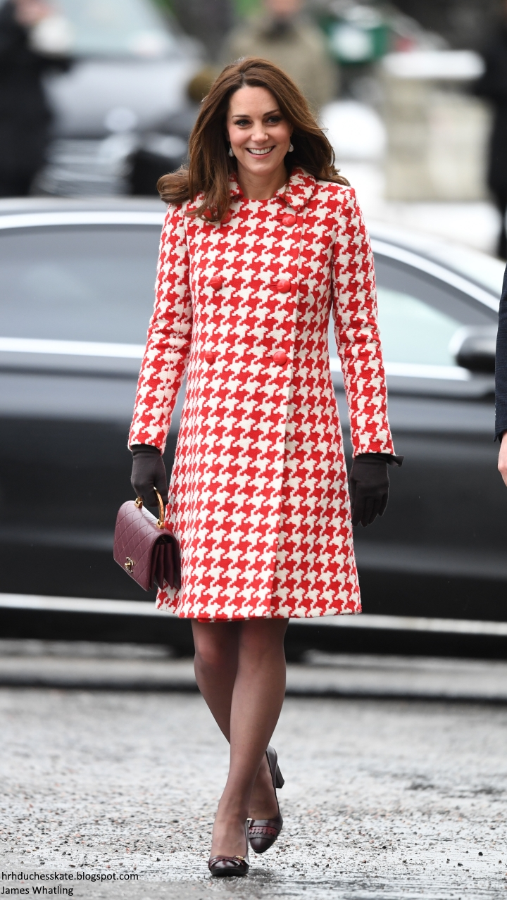 eba544b7fc Duchess Kate: It's Catherine Walker & McQueen for Day Two of the ...