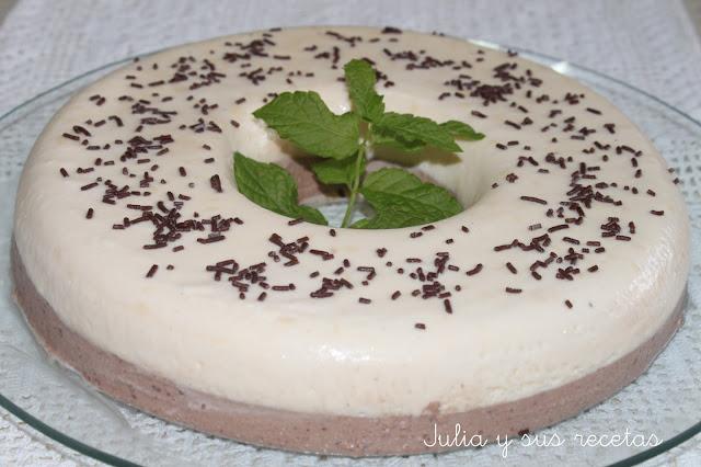 Bavaroise de vainilla y chocolate. Julia y sus recetas