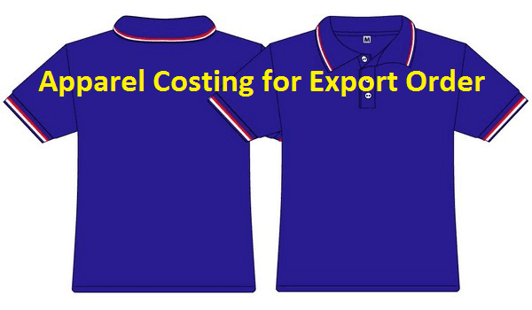Apparel costing for export order