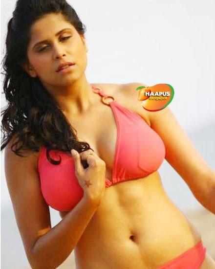 Sai Tamhankar Hot In Red Bikini  Cute Marathi Actresses -5892