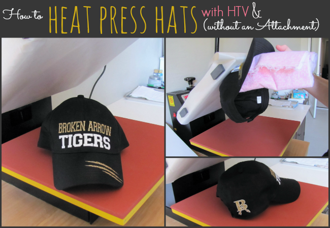 How to Heat Press a Hat  No Special Attachment Needed (Silhouette ... a4efe0f6f06