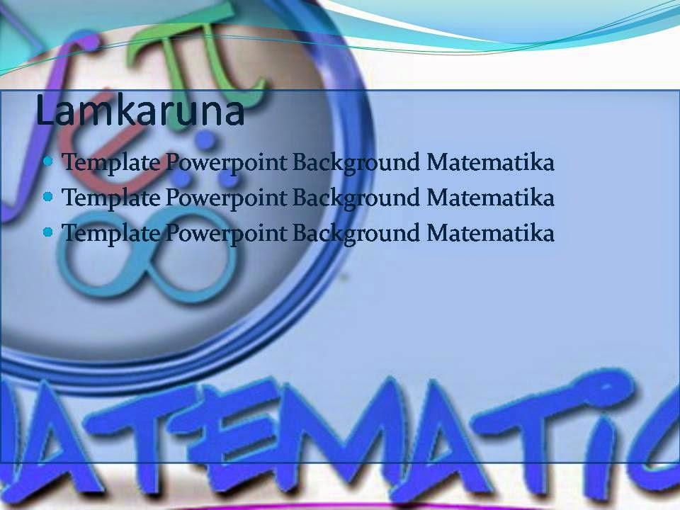 Template Powerpoint Background Matematika Deqwan1 Blog