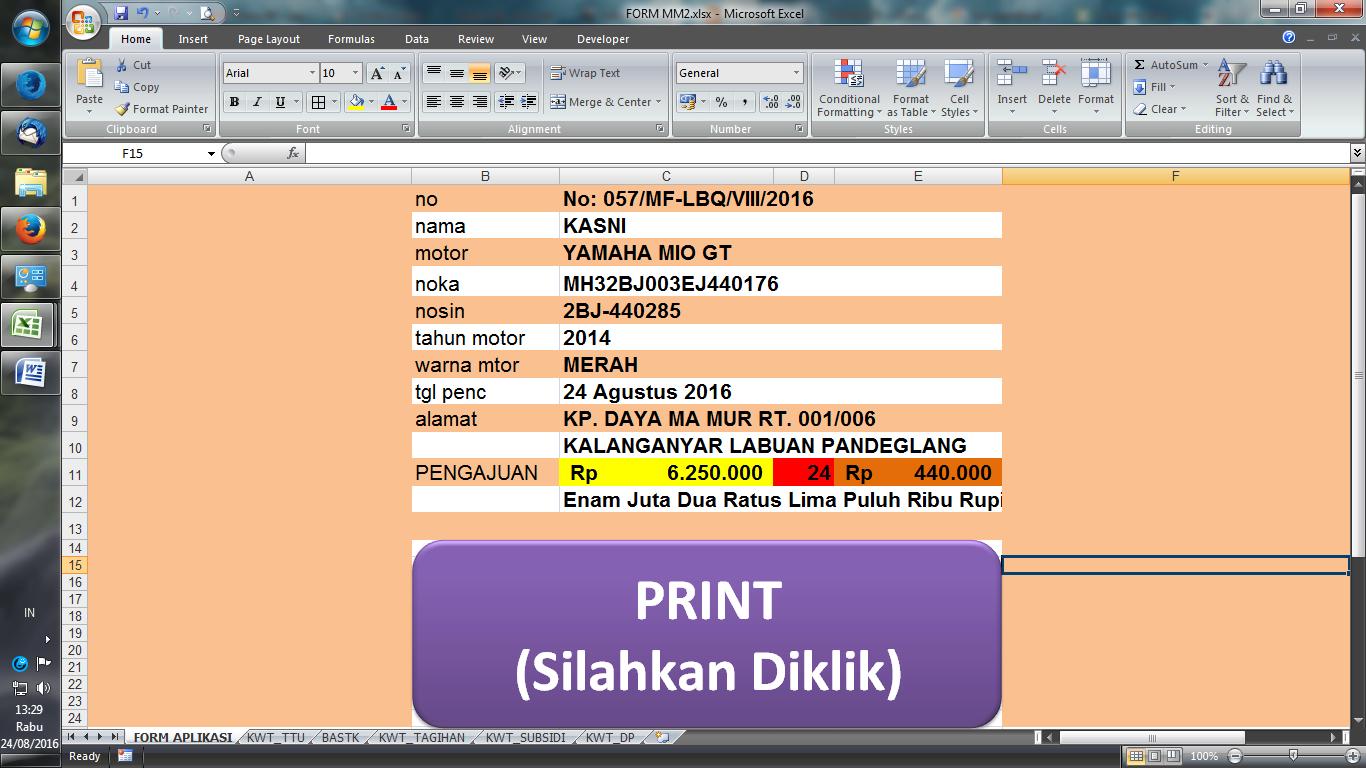 Tips Membuat Tombol Print Pada Ms Excel