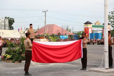 Gelar Senja Pramuka Kwarcab Lampung Timur