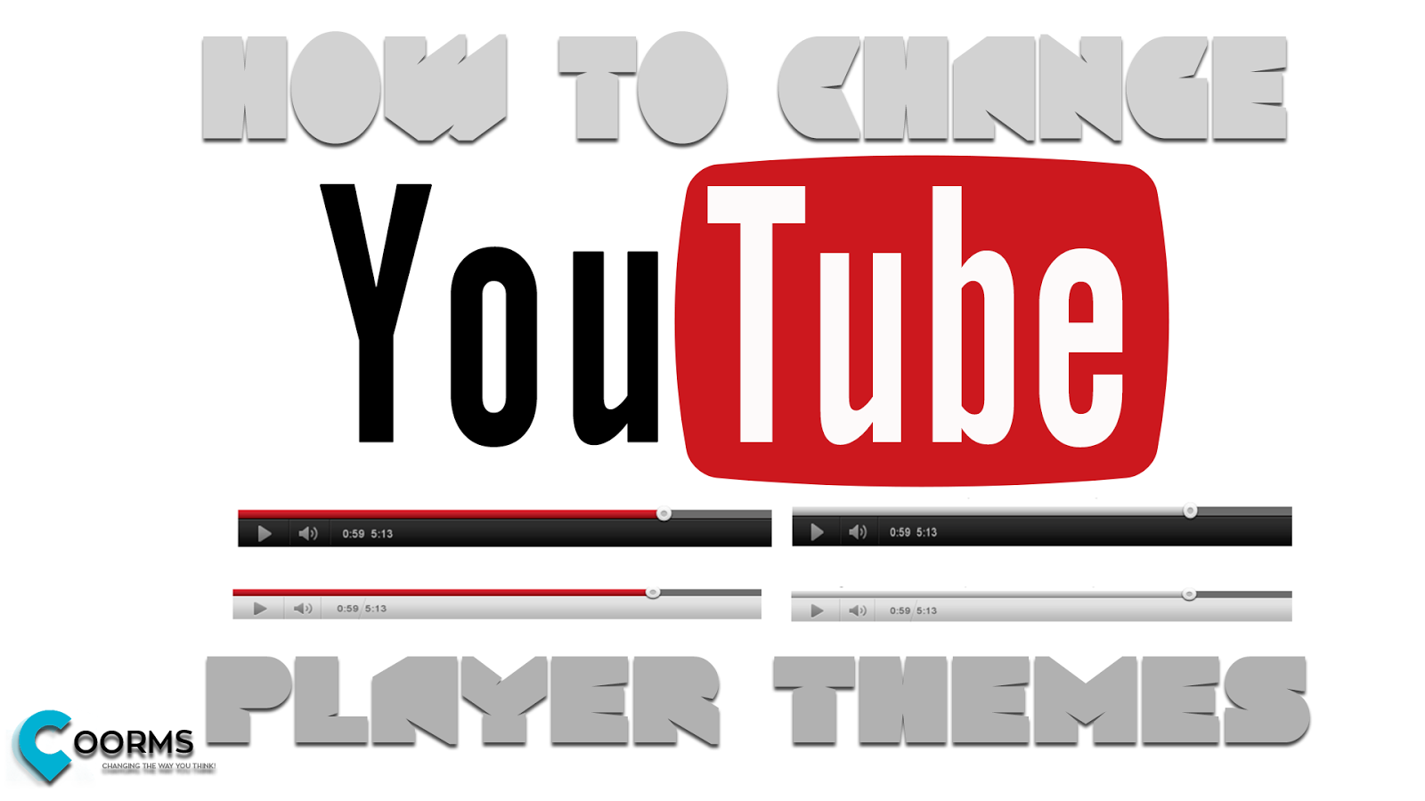 Learn How to change YouTube Embedded video player skin / theme and color