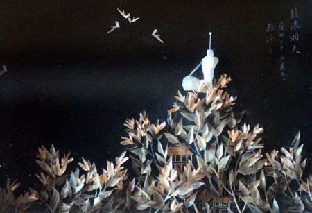 Nghệ thuật vẽ tranh bằng xương cá