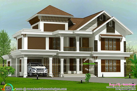 Traditional mix modern 3150 sq-ft house