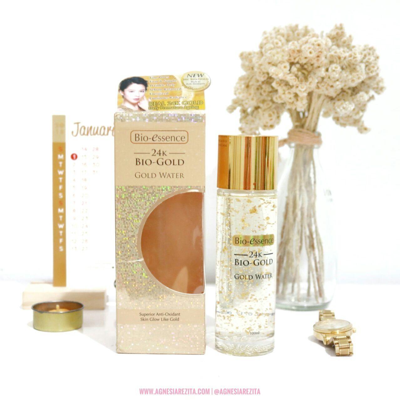 Bio Essence 24k Gold Water Review Agnesiarezita Bioaqua Eye Care Essense Serum Mata Anti Keriput Kemasan