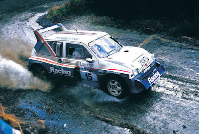 Jimmy McRae and Ian Grinrod (MG Metro 6R4) on the 1986 RAC Rally