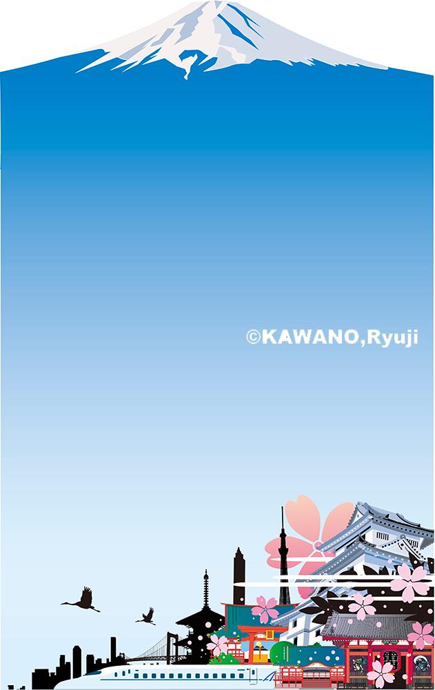 インバウンド、日本観光イラスト、日本のランドマークイラスト、イラスト制作、イラストレーター