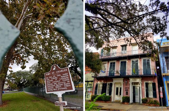 Fachada e localização do Lamothe House Hotel em Nova Orleans