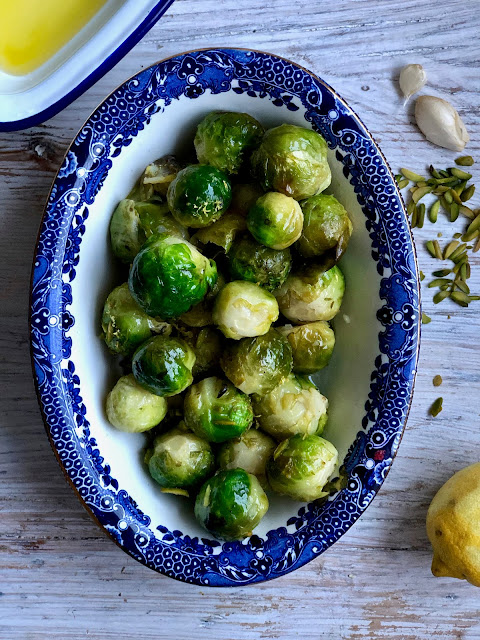 braised Brussels sprouts pic: Kerstin Rodgers/msmarmitelover.com