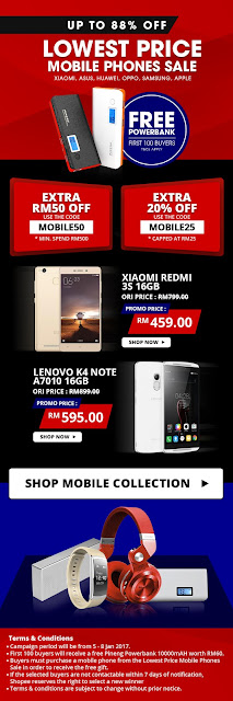 Shopee Sale Xiaomi Redmi 3s Discount Promo