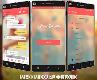 Mi-BBM Mod Couple V3.1.0.13 Apk Update Terbaru