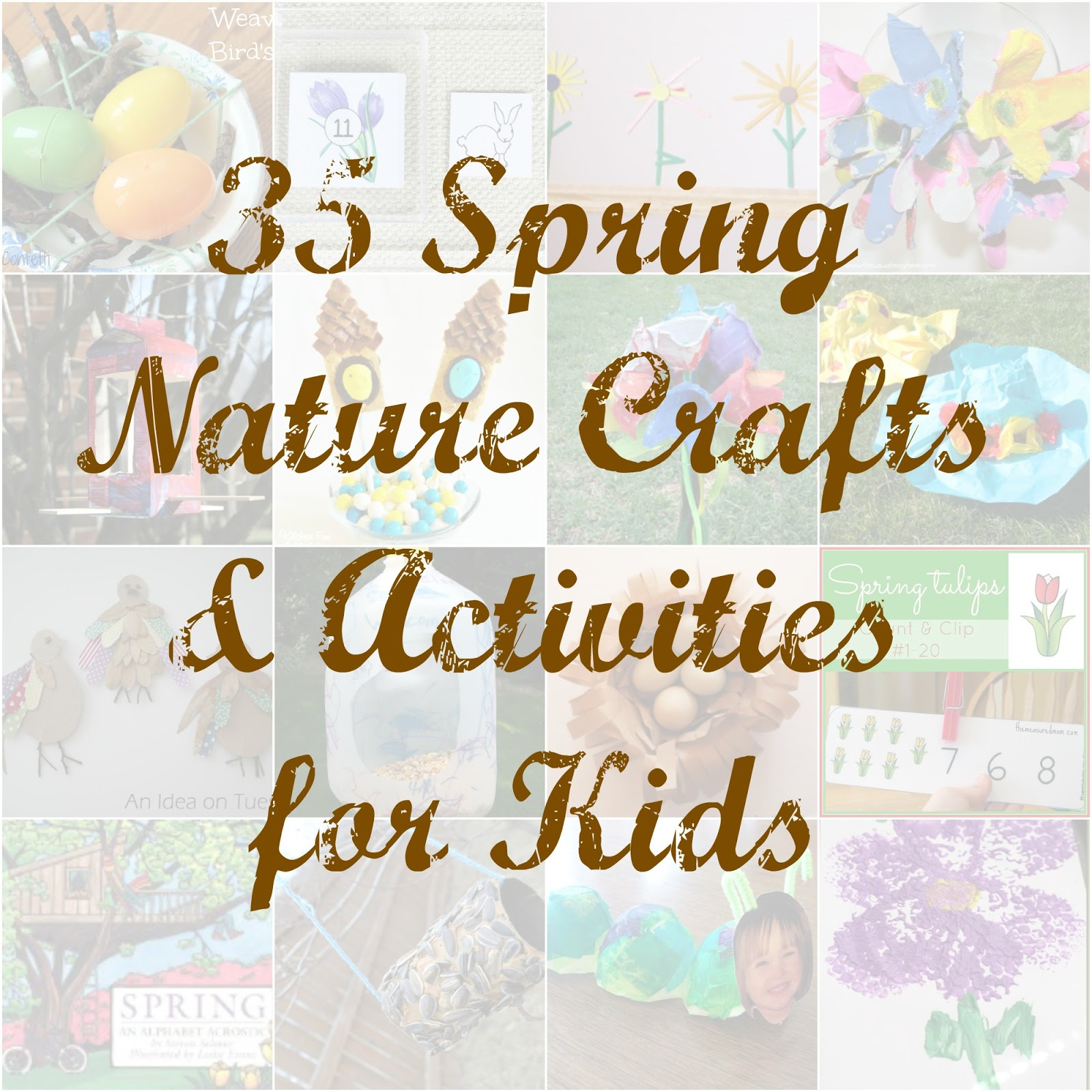 Featured 5 Spring Projects: 35 Spring Nature Crafts For Kids: Kid's Co-op