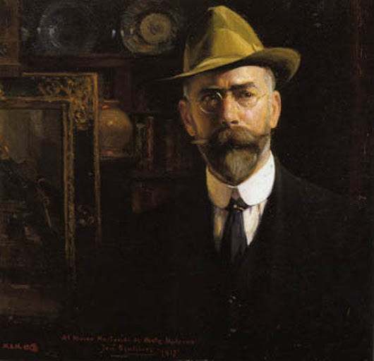 José Benlliure Gil, Self Portrait, Portraits of Painters, José Benlliure , Fine arts, Portraits of painters blog, Paintings of José Benlliure , Painter José Benlliure