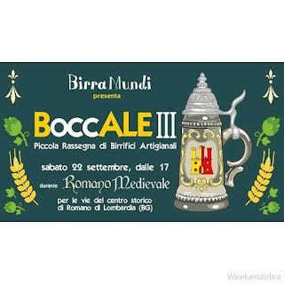 BoccALE, piccola rassegna di birrifici artigianali 22 settembre Romano di Lombardia (BG)