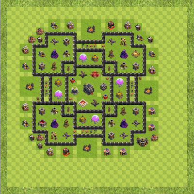 War Base Town Hall Level 9 By gladion15 (dickygea TH 9 Layout)