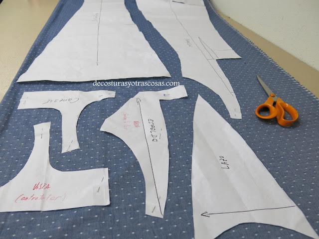 cortar un vestido largo un metro cincuenta de tela