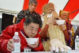 納豆の早食い世界大会開催