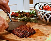 July - Easy-Easy Marinated Flank Steak