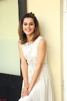 Taapsee Pannu in cream Sleeveless Kurti and Leggings at interview about Anando hma ~  Exclusive Celebrities Galleries 042.JPG