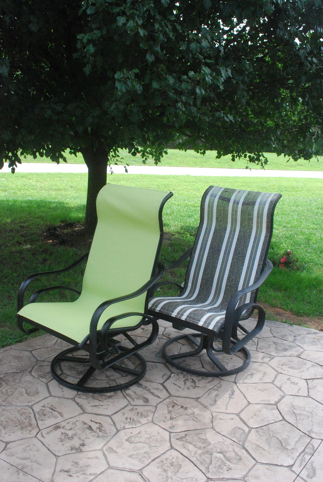 Recover Sling Patio Chairs Hanging Chair Leroy Merlin Back